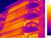 termovizní snímek - bytový dům 4