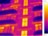 termovizní snímek - bytový dům 3
