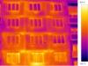 termovizní snímek - bytový dům 1