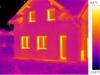 termovizní snímek rodinného domu 1