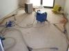 vysoušení izolace v konstrukci podlah po havárii vody 2